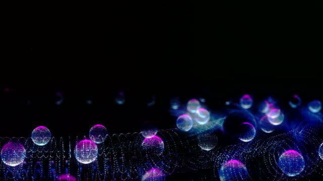 抽象的な回転粒子 - 球形点の映像素材/bロール