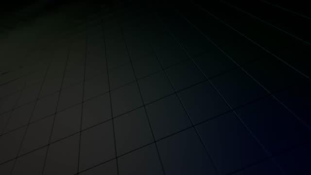 Abstract rotating dark block surface video