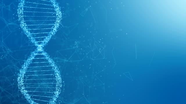 vídeos y material grabado en eventos de stock de adn giratorio abstracto doble hélice - cromosoma