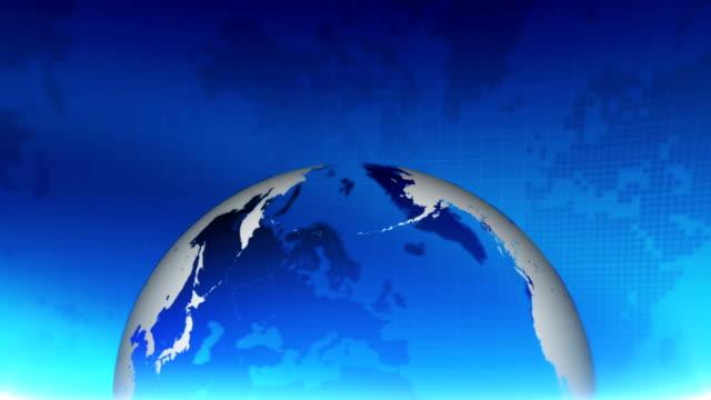 vidéos et rushes de fond rotatif abstrait de globe. carte du monde de défilement en boucle - bivalve