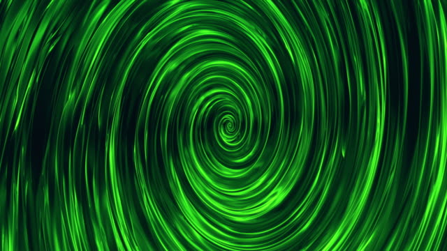 Abstract rotating green spiral background - vídeo