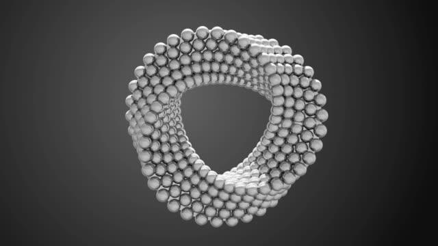 stockvideo's en b-roll-footage met abstracte roterende lus - driedimensionaal