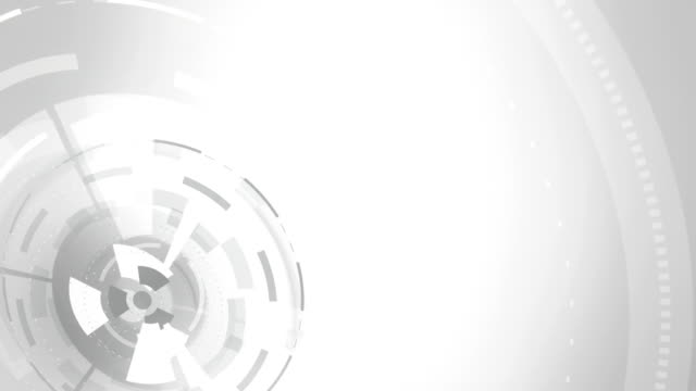 Abstract round animation, hi-tech background with circles. Futuristic Sci-Fi HUD effect. video