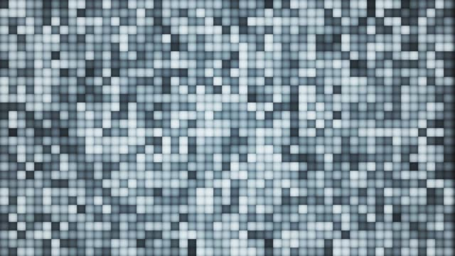Abstract rows of colorful pixels blinking, Small squares of different colors flowing, Disco mosaic loop