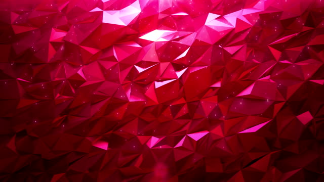 Abstract ruby triangle background video
