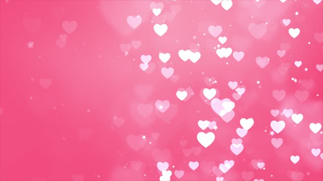 Abstract saint valentines day Pink background. Computer generated seamless loop