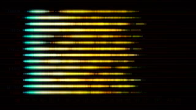 レベル インジケーターと抽象的な画面 - センサー点の映像素材/bロール