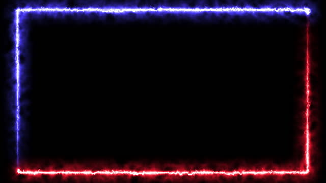 Abstract seamless background red and blue fire line looped animation square circular