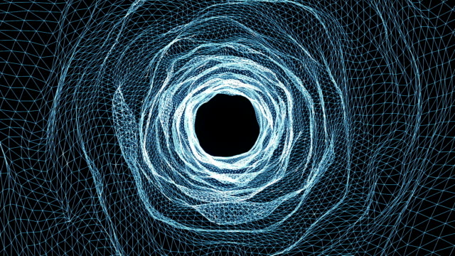 Abstract seamless tunnel motion background