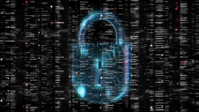 abstract security concept hintergründe - blockchain stock-videos und b-roll-filmmaterial