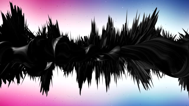 3D Abstract Shapes Background Animation With Particle Effects video