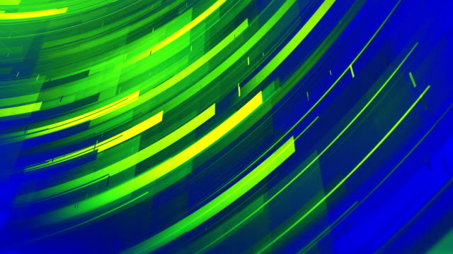 Abstract Shapes Background (Neon Green & Blue) - Loop video