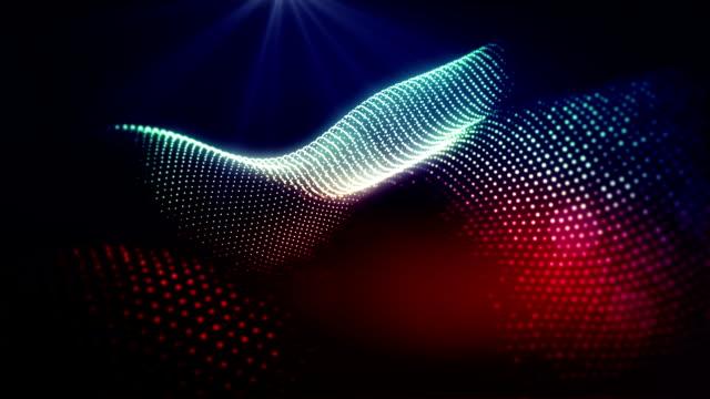 Abstract shapes wavy loop video