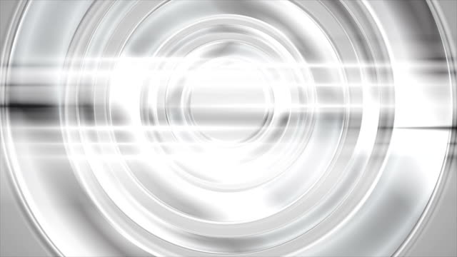 Abstract silver chrome circles and shiny stripes video animation video