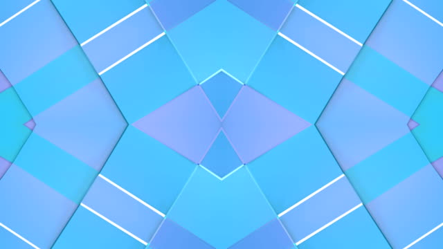 abstract simple 3d background in blue purple gradient color, low poly style as modern geometric background or mathematical environment with kaleidoscopic effect. 4k uhd or fullhd seamless loop.2 - giuntura umana video stock e b–roll
