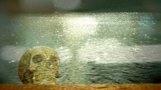 abstract skull in the water video