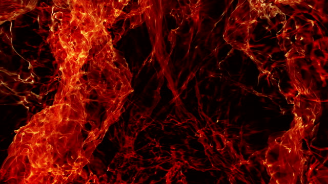 Abstract Slow Motion Fire Loop Background video