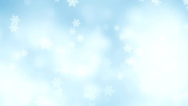 sfondo astratto fiocchi di neve - nevicata video stock e b–roll