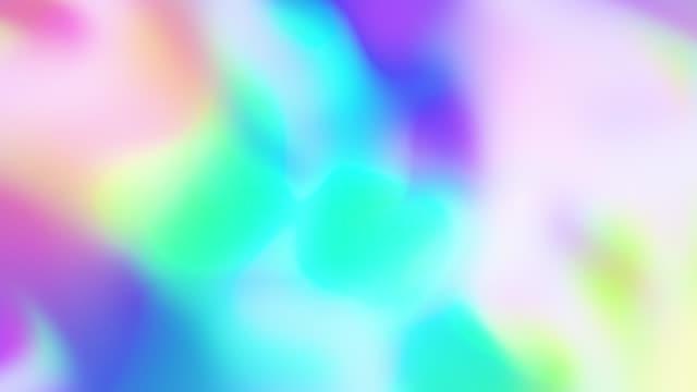 vídeos de stock, filmes e b-roll de resumo soft defocused holographic prism backdrop - colorful background
