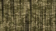 istock Abstract Soldier Uniform Camouflage Flag and Curtain Background (Loopable) stock video 1163343402