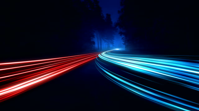 4K Abstract Speed motion in highway road video