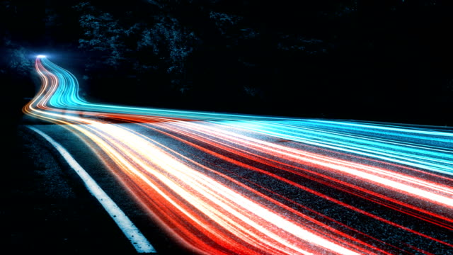 4k abstract speed motion in highway road - abstract art stock videos & royalty-free footage