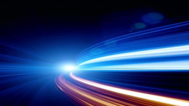abstrakte geschwindigkeit bewegung im autobahn-tunnel - bewegungsunschärfe stock-videos und b-roll-filmmaterial