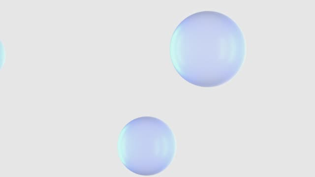 abstract sphere transparent white background 3d rendering motion video