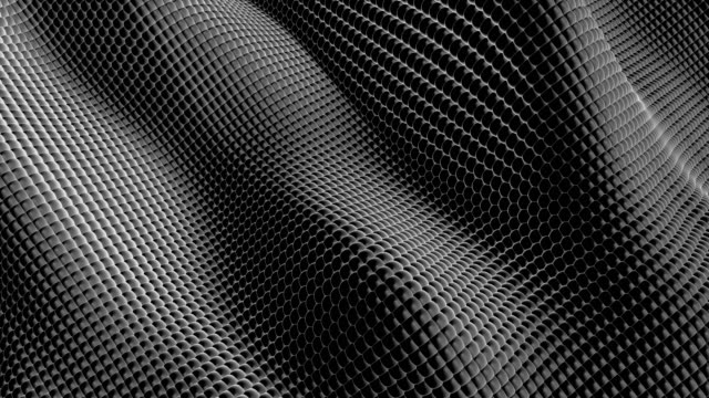 Abstract Spheres (Black) Waving small spheres loop animation abstract background stock videos & royalty-free footage