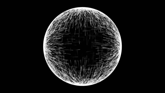 Abstract spherical background video