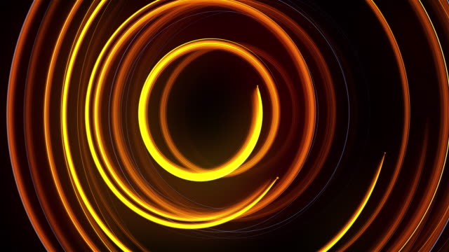 Abstract spiral rotating glow lines, computer generated background, 3D rendering background