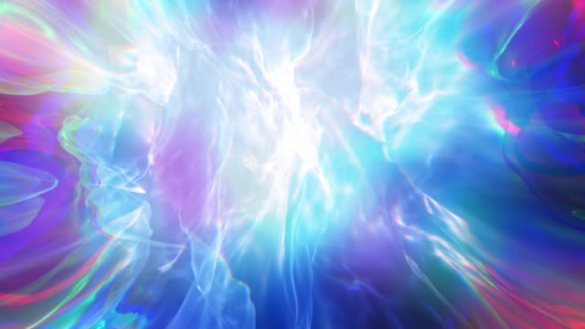 Abstract Spiritual Blue Fantasy Fractal Loop Background video