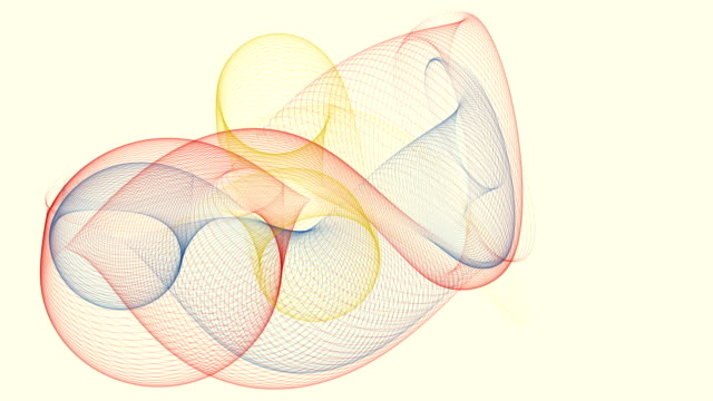 Abstract spirograph background video