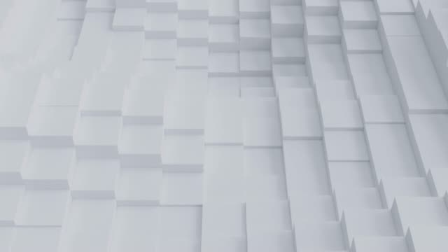 Abstract Square Geometric Surface Loop pattern on white background.