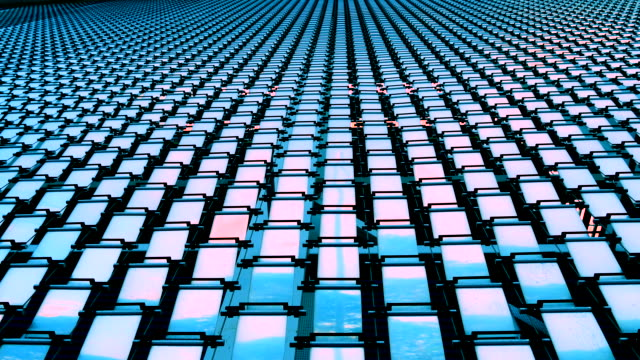 Abstract square metal Steel video