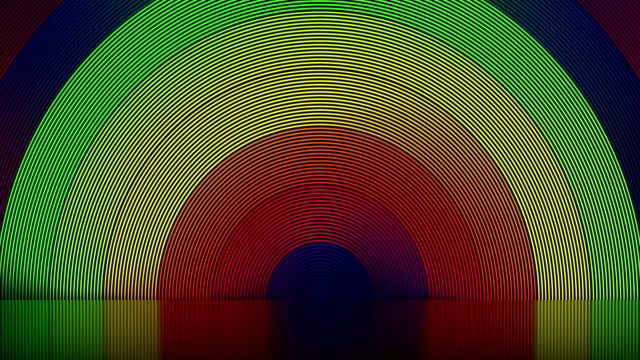 Abstract stage, LGBT colors