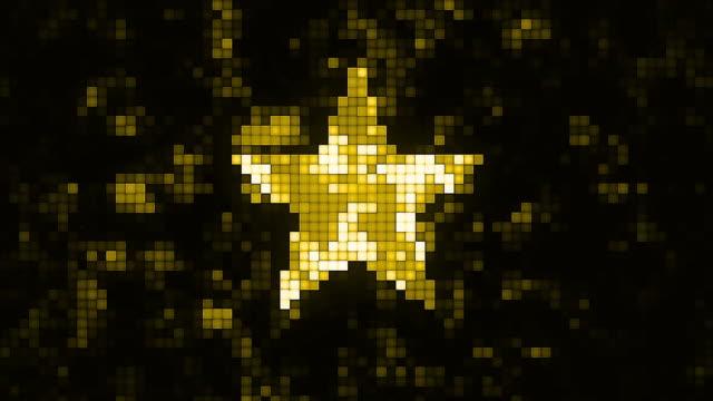 Abstrakte Stern geformt Hintergrund. Flache Tiefenschärfe der Feldanimation . Magischer digitaler Raum. Makro aufnahme 3D-Bewegungsgrafiken. (Loopable) – Video