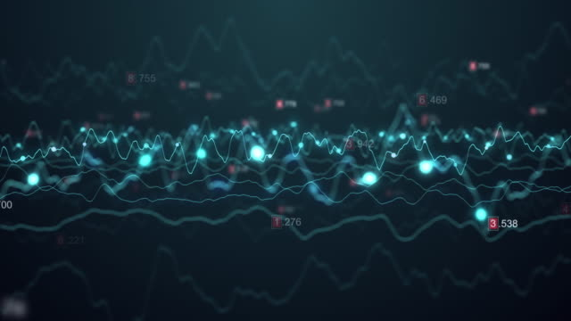 abstract stock market graph dot digital technology data particle visualization, finance business graph, binary code number loop animation abstract stock market graph dot digital technology data particle visualization, finance business graph, binary code number loop animation inflation stock videos & royalty-free footage