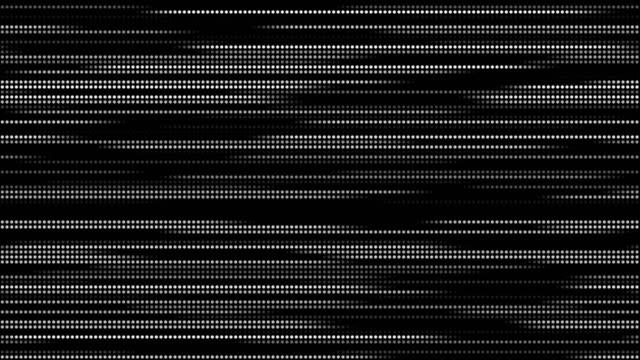 stockvideo's en b-roll-footage met 4k abstracte rechte lijn dot uitvoeren op de schermachtergrond. laser licht puntjes stripe lichttechnologie achtergrond, golf scannen gegevens testen deeltje achtergrond. motion animatie en grafische achtergrond. - halftint
