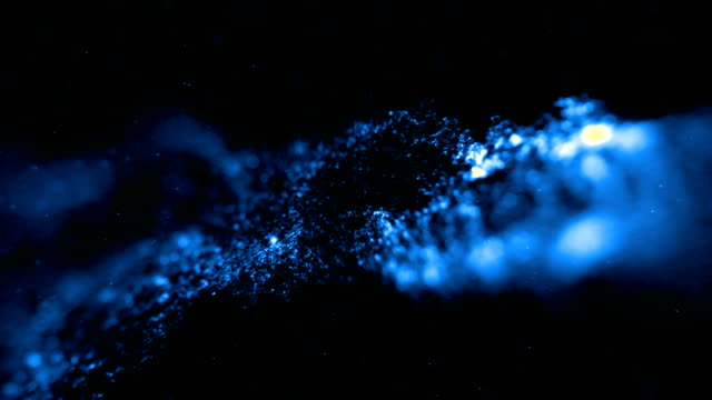 abstract stream array colorful glitter sparkle blue lines with particles on black background science and research - science research stock videos & royalty-free footage