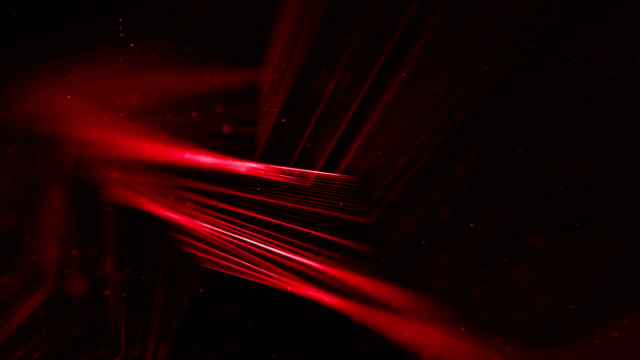 abstract stream array red glitter sparkle lines with particles on black background science and research - science research stock videos & royalty-free footage