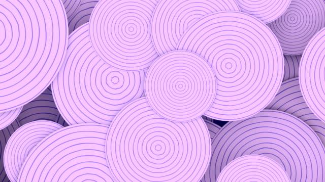 abstrakte gestreifte kreise muster für motion grafik-design. digitale nahtlose loop-animation. 3d-rendering. hd-auflösung - ewigkeit stock-videos und b-roll-filmmaterial