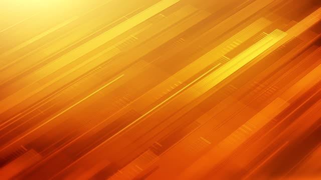 抽象的な背景のストライプ (イエロー/オレンジ/レッド) - ループ - 斜めから見た図点の映像素材/bロール