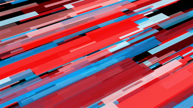 Abstract stripes in space - abstraction of data communication, computer generated background, 3D render
