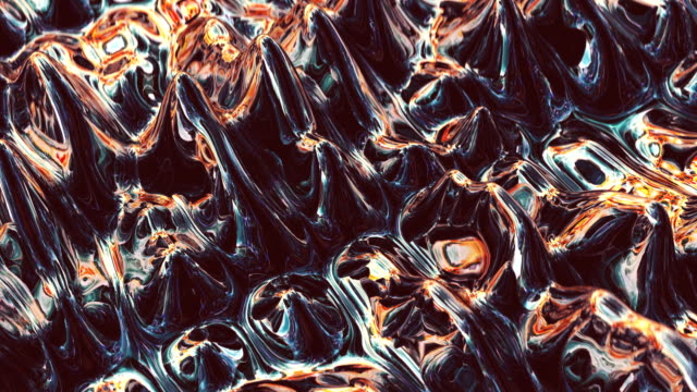 Abstract surface made of metallic, shiny plasma Abstract patterns and bubbles on metallic plasma surface. Digitally generated image metallic stock videos & royalty-free footage