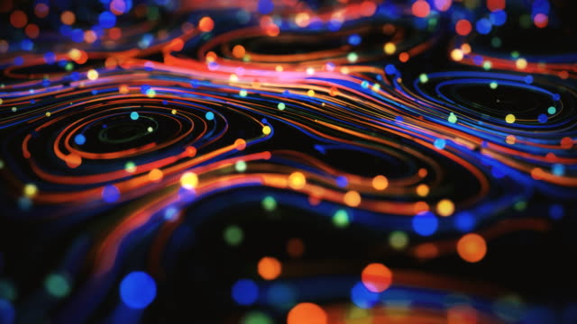 vidéos et rushes de spirales abstraites de 4k. - art