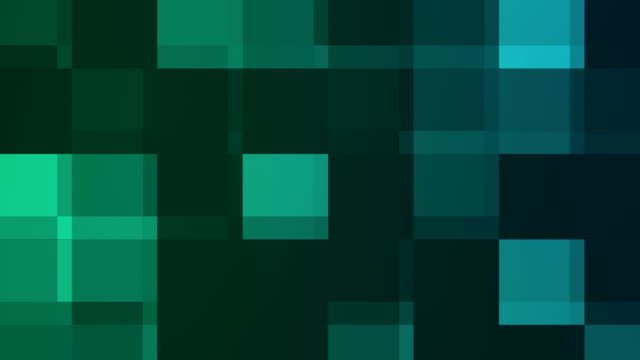 Abstract teal pixels motion background video