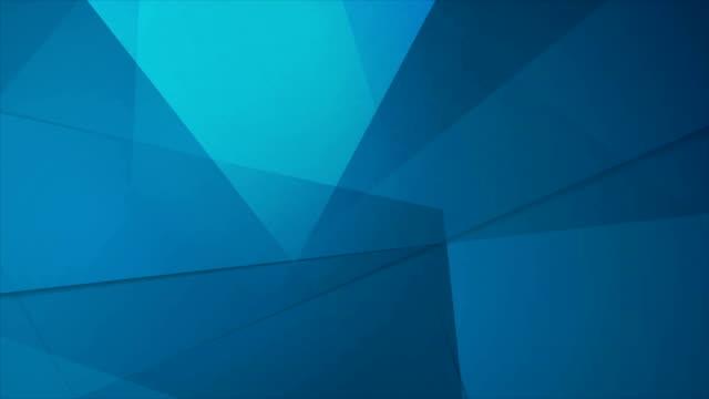 Abstract tech geometric polygonal motion design