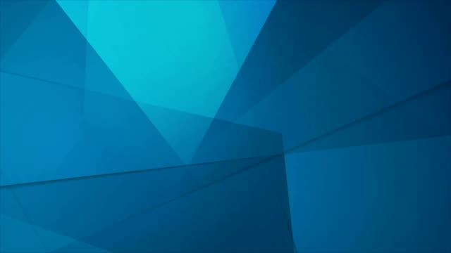 vídeos de stock e filmes b-roll de abstract tech geometric polygonal motion design - design