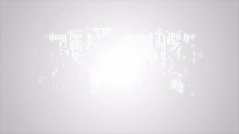 Abstract tech world map from sparkling shiny dots video animation Abstract tech world map from sparkling shiny dots motion graphic design. Light grey earth background. Video animation Ultra HD 4K 3840x2160 gray color stock videos & royalty-free footage